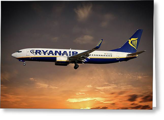 Boeing 737 Ryanair Greeting Card