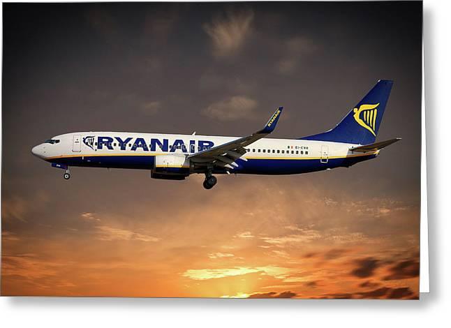 Boeing 737 Ryanair Greeting Card