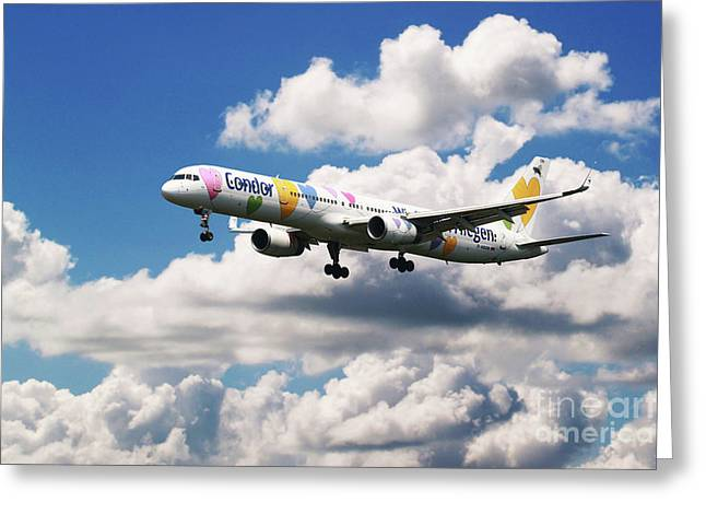 Boeing 757 Condor Airlines Greeting Card