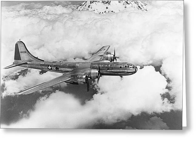 Boeing B-29 Superfortress Greeting Card by Underwood Archives