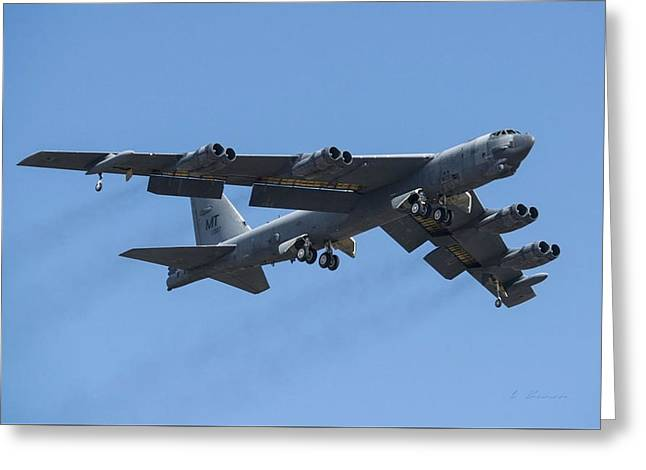 Boeing B-52 Stratofortress Greeting Card by L Brown