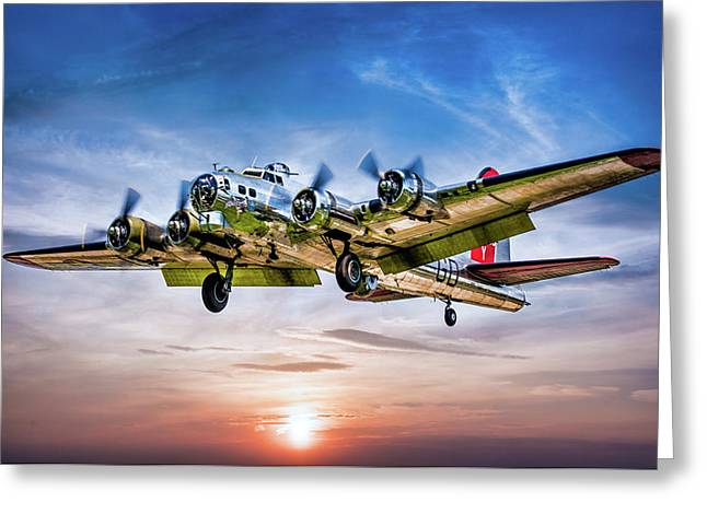 Greeting Card featuring the photograph Boeing B17g Flying Fortress Yankee Lady by Chris Lord