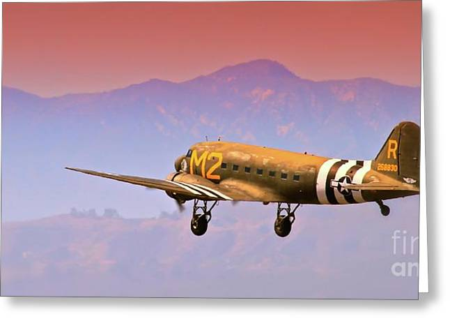 Boeing Douglas C-47 To Normandy June 6th 1944 Greeting Card