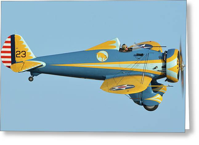 Boeing P-26 Pea Shooter N3378g Chino California April 29 2016 Greeting Card by Brian Lockett