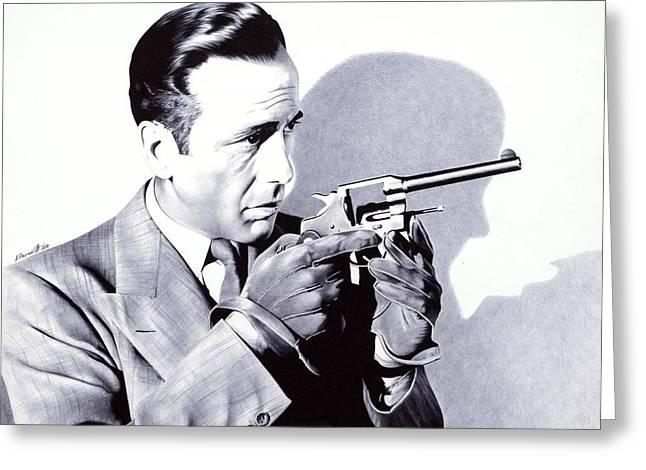 Bogart - Ballpoint Pen Art Greeting Card