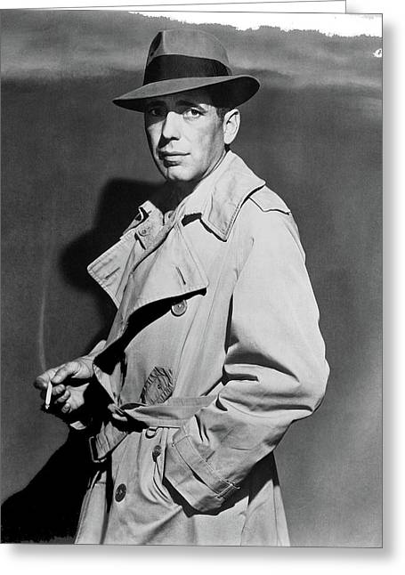 Bogart In Trenchcoat Casablanca 1942-2016 Greeting Card by David Lee Guss