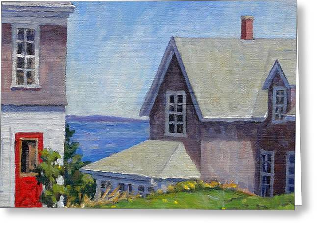 Bogdanov House Monhegan Greeting Card