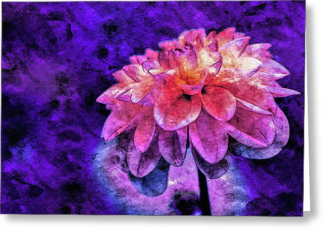 Greeting Card featuring the mixed media Bohemian Bloom by Susan Maxwell Schmidt