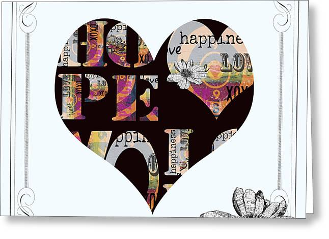 Inspirational Licensing Greeting Cards - Bohemian Heart Print Greeting Card by ArtyZen Studios