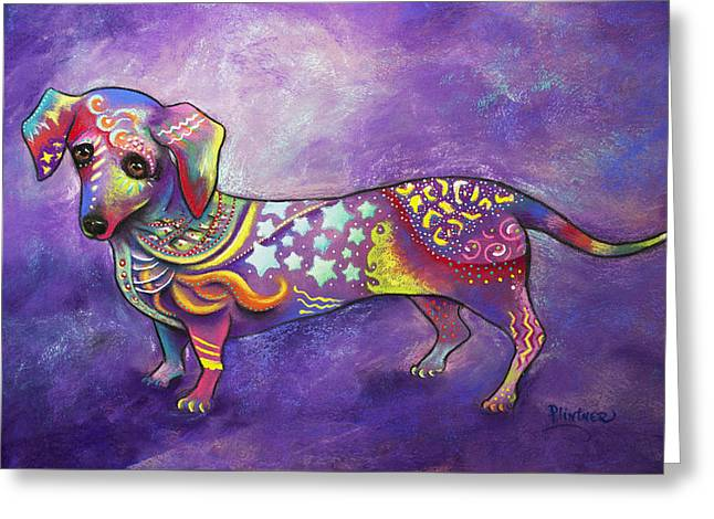 Dachshund Greeting Card by Patricia Lintner