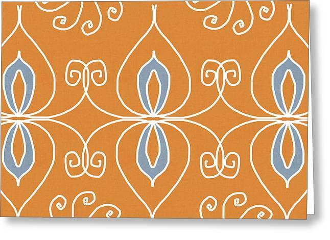 Boho Ornamental 1- Art By Linda Woods Greeting Card