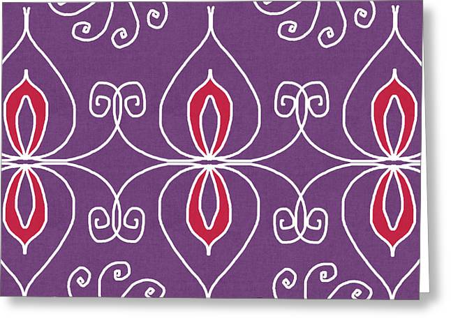 Boho Ornamental 2- Art By Linda Woods Greeting Card