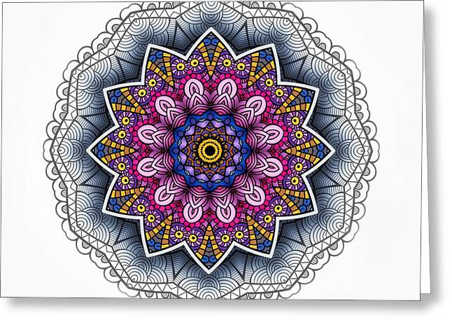 Boho Star Greeting Card by Mo T