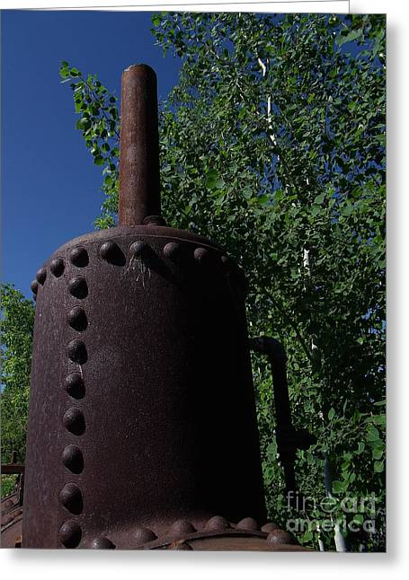 Boiler Head Greeting Card by The Stone Age
