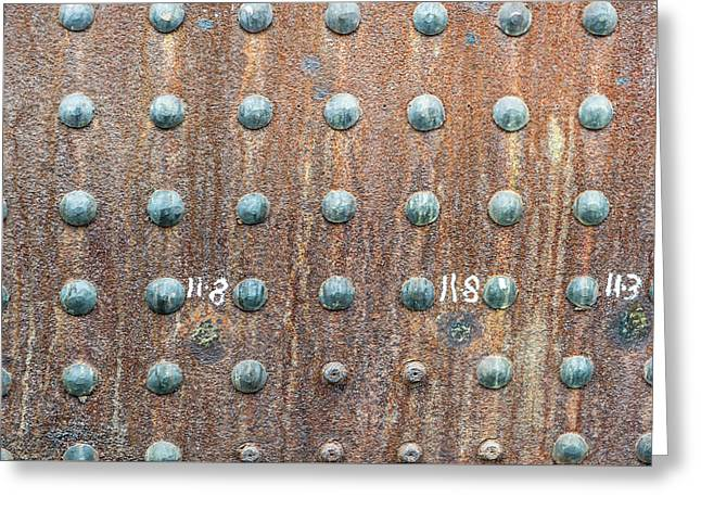 Boiler Rivets Greeting Card