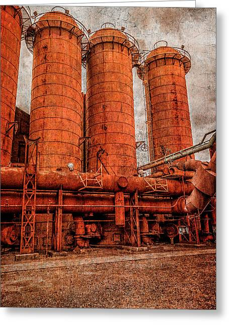 boilers at Sloss Greeting Card by Phillip Burrow
