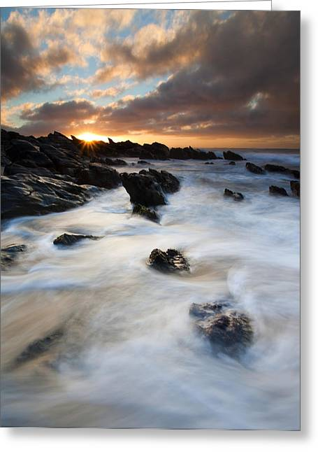 Boiling Tides Greeting Card by Mike  Dawson