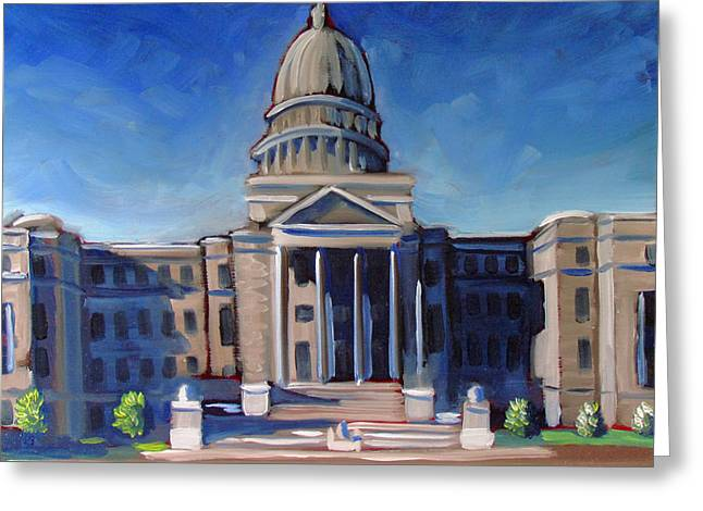 Boise Capitol Building 02 Greeting Card