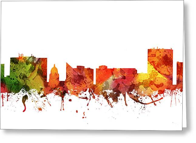 Boise Cityscape 04 Greeting Card by Aged Pixel