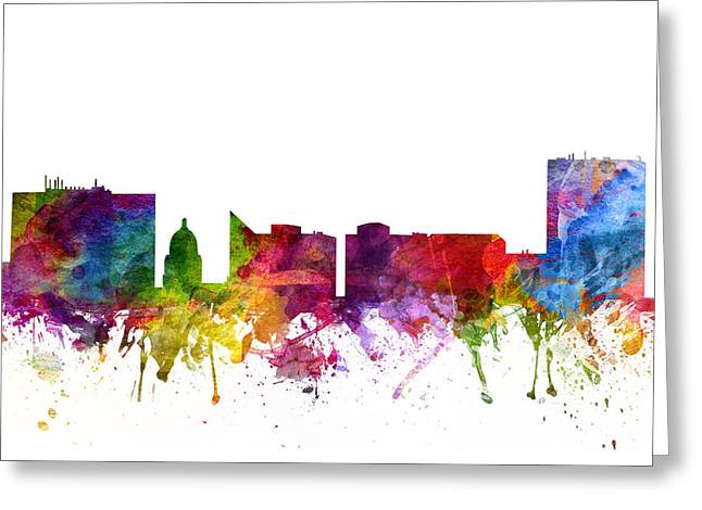 Boise Cityscape 06 Greeting Card