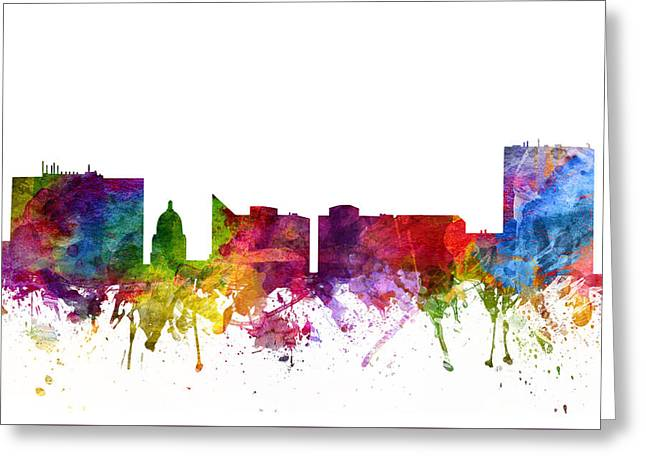 Boise Cityscape 06 Greeting Card by Aged Pixel