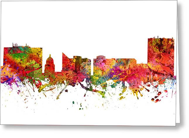Boise Cityscape 08 Greeting Card by Aged Pixel
