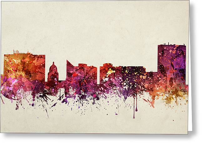Boise Cityscape 09 Greeting Card by Aged Pixel