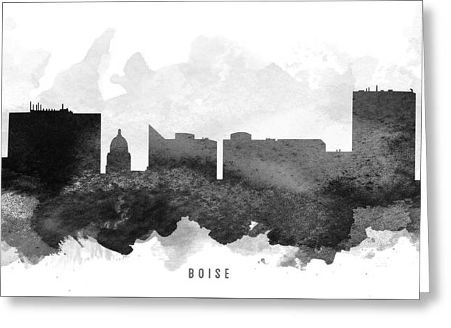 Boise Cityscape 11 Greeting Card by Aged Pixel