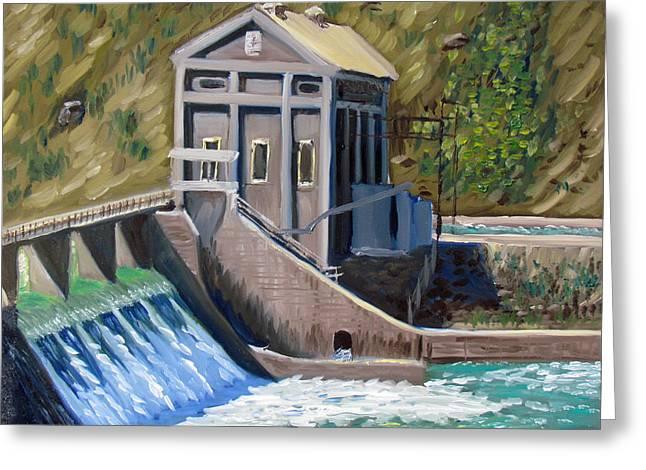 Boise Diversion Dam Greeting Card