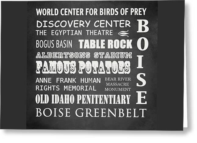 Boise Famous Landmarks Greeting Card by Patricia Lintner
