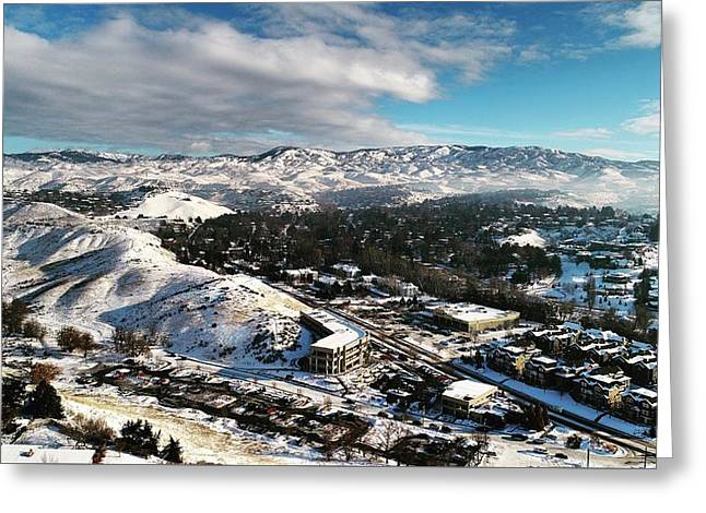Boise Foothills Greeting Card