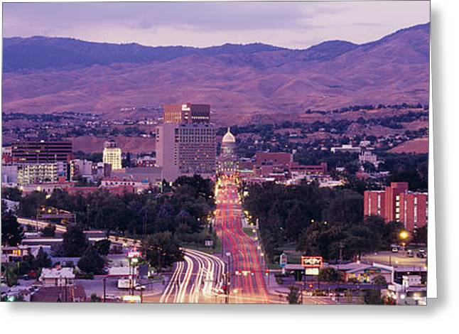 Boise Id Greeting Card by Panoramic Images