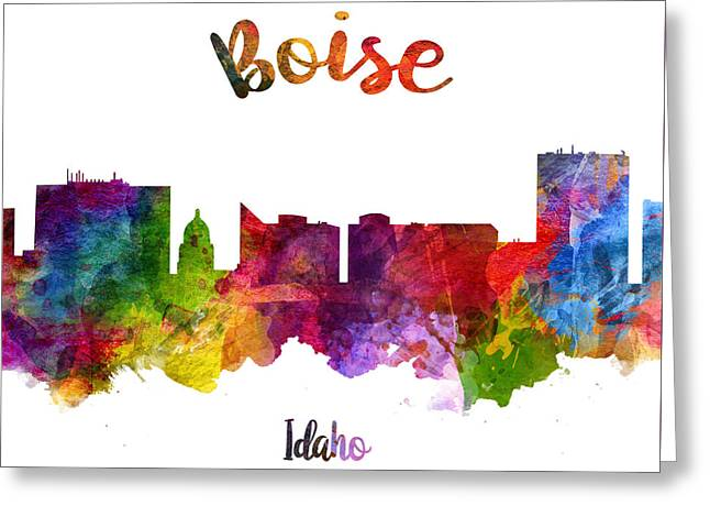 Boise Idaho 23 Greeting Card by Aged Pixel