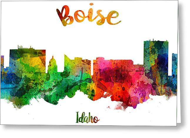 Boise Idaho 24 Greeting Card by Aged Pixel