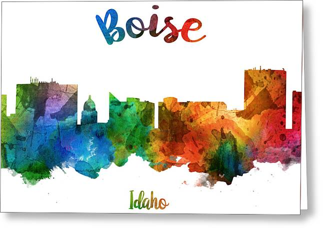 Boise Idaho 25 Greeting Card by Aged Pixel
