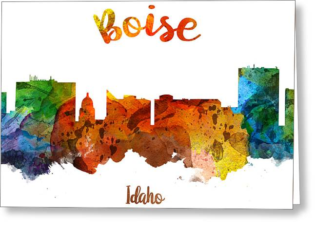 Boise Idaho 26 Greeting Card by Aged Pixel
