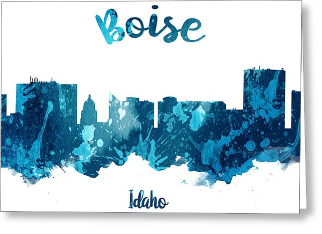 Boise Idaho 27 Greeting Card by Aged Pixel