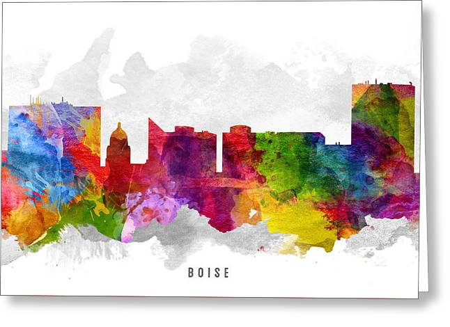 Boise Idaho Cityscape 13 Greeting Card by Aged Pixel