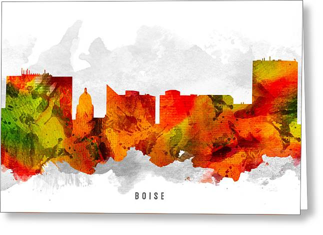 Boise Idaho Cityscape 15 Greeting Card by Aged Pixel