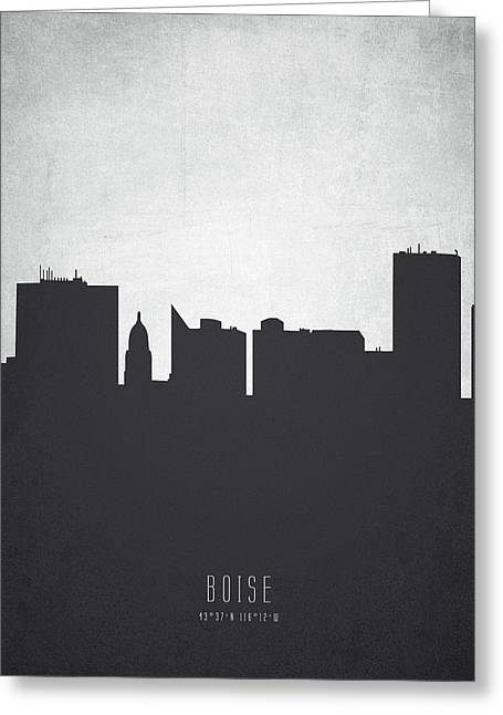 Boise Idaho Cityscape 19 Greeting Card by Aged Pixel