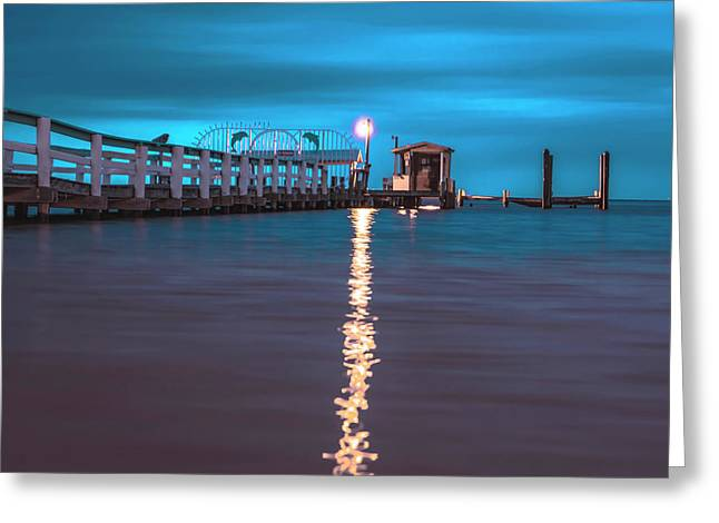 Bokeelia Pier Greeting Card by Michael Frizzell