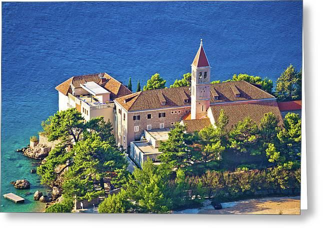 Bol Church And Monastery On Brac Coast Greeting Card