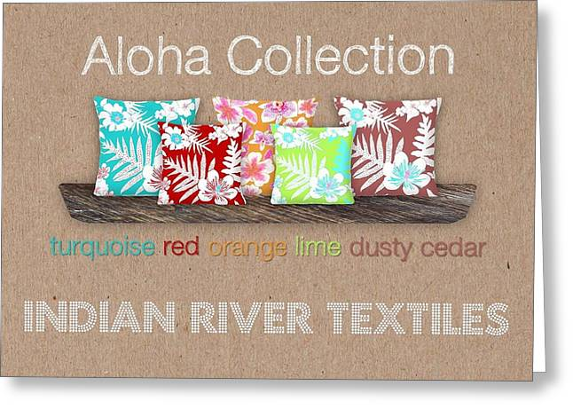 Bold Aloha Pillow Collection Greeting Card