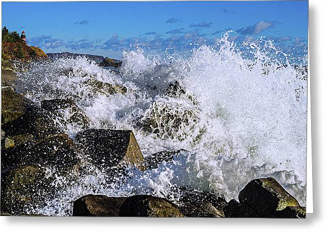Bold Coast Of Down East Maine Greeting Card by Marty Saccone