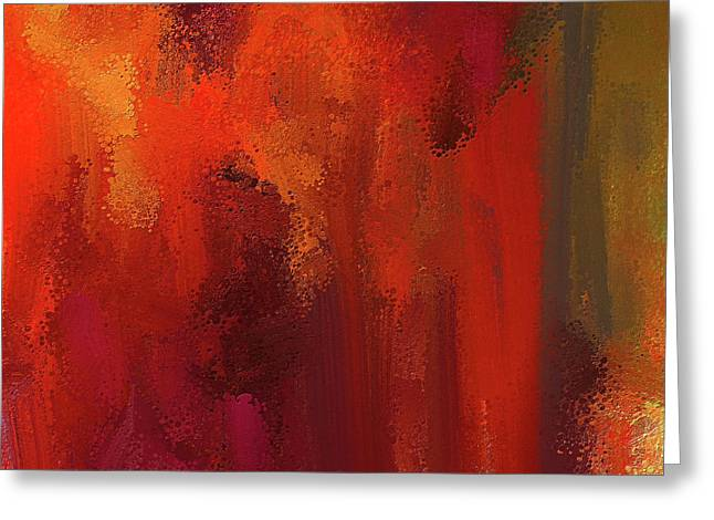 Bold Colors Abstract Art Greeting Card by Lourry Legarde