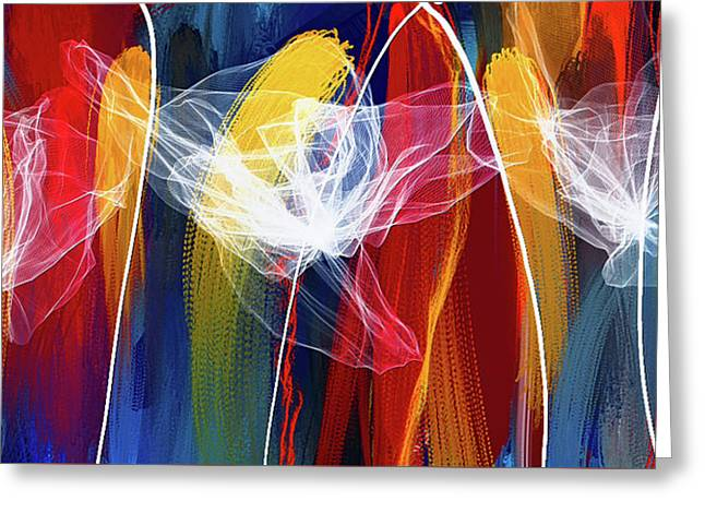 Bold Colors Modern Abstract Art Greeting Card