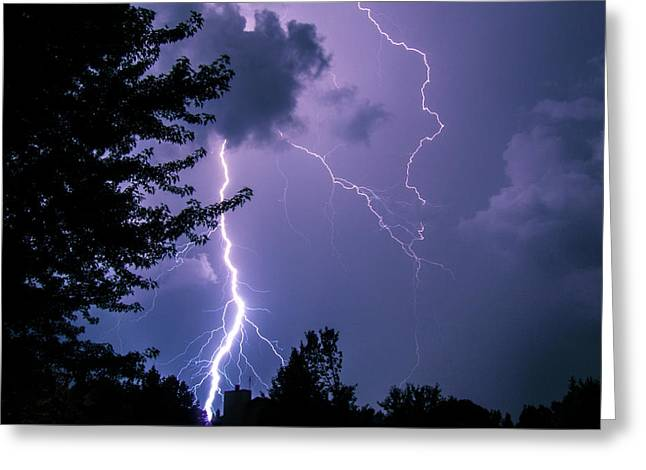 Bold Lightning Strokes Greeting Card