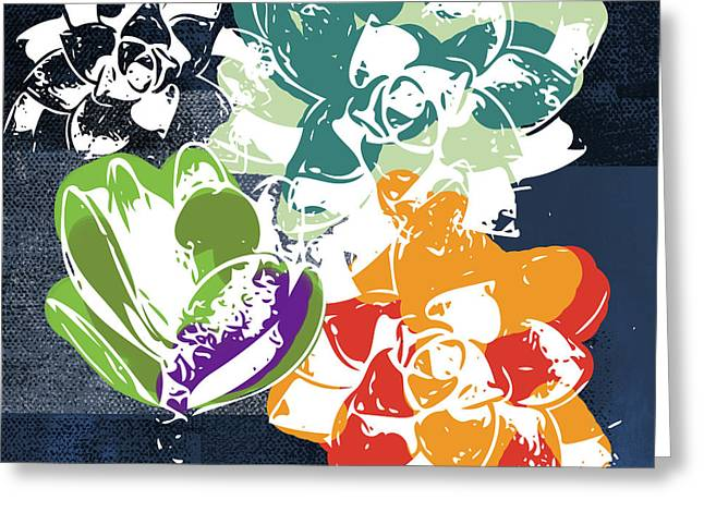 Bold Succulents 1- Art By Linda Woods Greeting Card