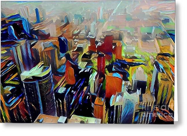 Bold Urban Colors Greeting Card