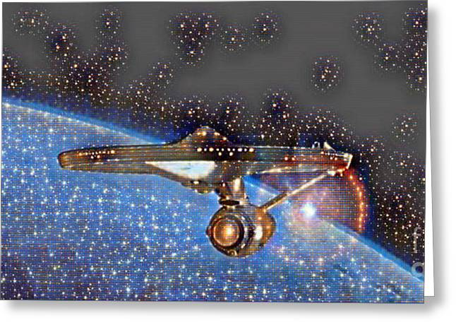 Boldly Going Out There Greeting Card by Pd